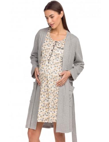 Vamp Γυναικείο Εμπριμέ Νυχτικό Εγκυμοσύνης 15386 Lamoda.gr