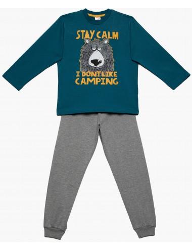 Minervakia Παιδική Πυτζάμα Stay Calm για Αγόρια 90-61909 Lamoda.gr