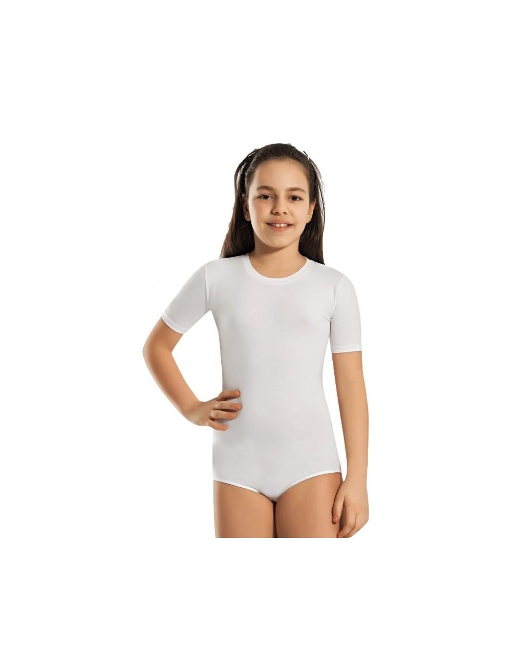 Παιδικό κορμάκι κοντομάνικο για κορίτσια βαμβακερό με ελαστικότητα