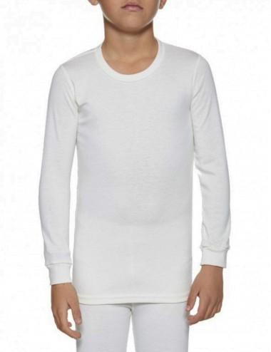 Ισοθερμική μπλούζα Παδική unisex μακρυμάνικη σε λευκό και μαύρο χρώμα Αθλητική