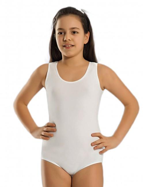 Παιδικό βαμβακερό κορμάκι με φαρδιά τιράντα για κορίτσια