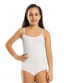 Βαμβακερό κορμάκι για κορίτσια με λεπτή τιράντα 4 έως 12 ετών