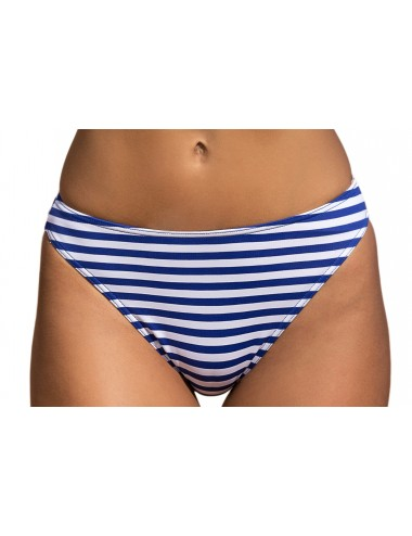 Μαγιό Μπικίνι Σλιπ ψηλοκάβαλο Ριγέ μπλε- λευκό μαύρο-λευκό για navy εμφανίσεις.