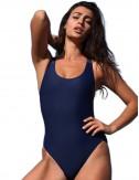 Αθλητικό μαγιό ολόσωμο γυναικείο μπλε μαύρο
