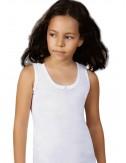 Παιδικά εσώρουχα φανελάκι λευκό φαρδιά τιράντα βαμβακερό για κοριτσια