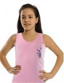 Χρωματιστά Φανελάκια αμάνικα φαρδιά τιράντα βαμβακερά για κορίτσια
