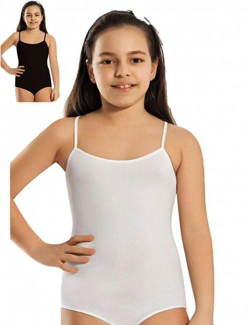 Βαμβακερό Κορμάκι με λεπτή τιραντα για κορίτσια 4 έως 12 ετών
