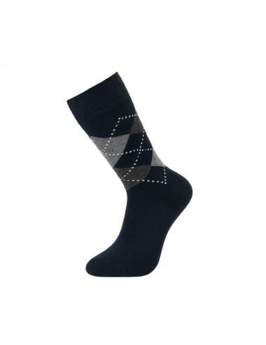 Ανδρικές βαμβακερές κάλτσες ζακάρ (σχέδιο ρόμβους)