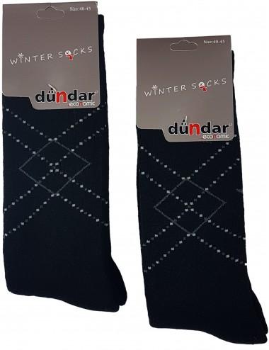 Ανδρικές βαμβακερές κάλτσες χειμερινές με εσωτερική πετσέτα
