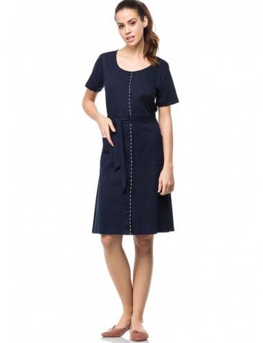 Γυναικείο φόρεμα με κουμπιά κλασικό Vamp 0411
