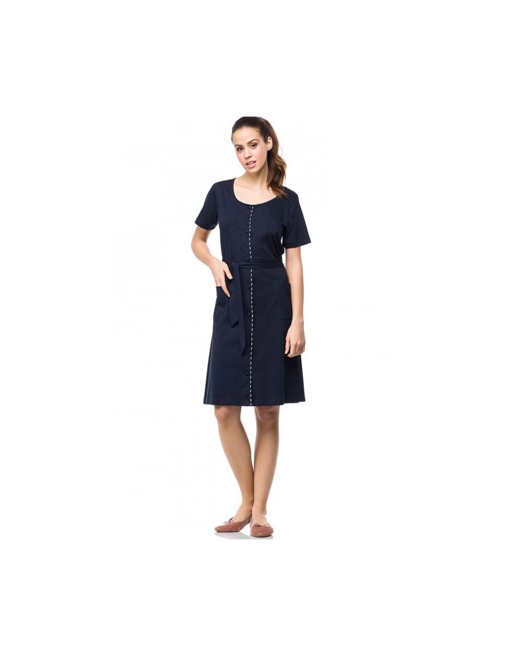 Γυναικείο φόρεμα με κουμπιά κλασικό Vamp 01504