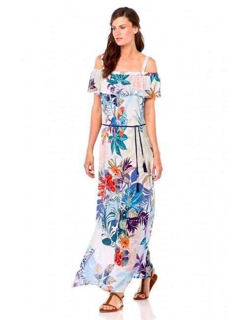 Γυναικείο καλοκαιρινό φόρεμα maxi Vamp 6949