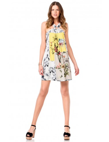 Καλοκαιρινό μίνι φόρεμα με τιράντα, Vamp 6942
