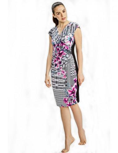 Γυναικείο καλοκαιρινό φόρεμα κρουαζέ Vamp 6914