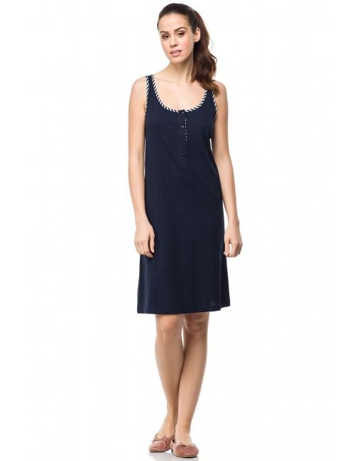 Μονόχρωμο καλοκαιρινό φόρεμα χωρίς μανίκι της κλασικό Vamp 01503