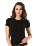 Γυναικείο βαμβακερό φανελάκι T-shirt κοντομάνικο στρογγυλή λαιμόκοψη Namaldi