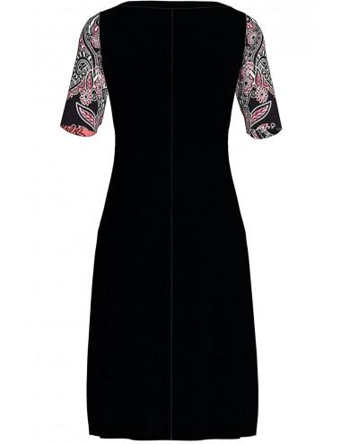 Εμπριμέ καλοκαιρινό φόρεμα σε ίσια γραμμή Vamp 3260