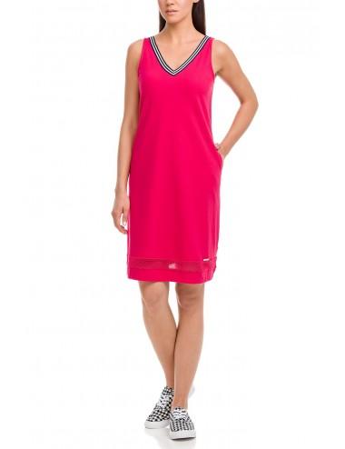 Αμάνικο φόρεμα παραλίας πικέ Vamp 12545