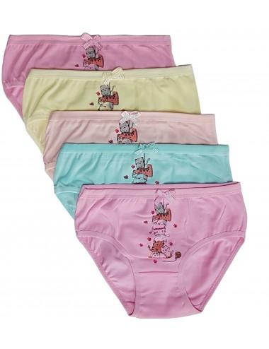 Παιδικά βαμβακερά σλιπ Πακ. 5τμχ για κορίτσια
