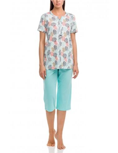 Γυναικεία πυτζάμα με κάπρι παντελόνι Vamp 12055