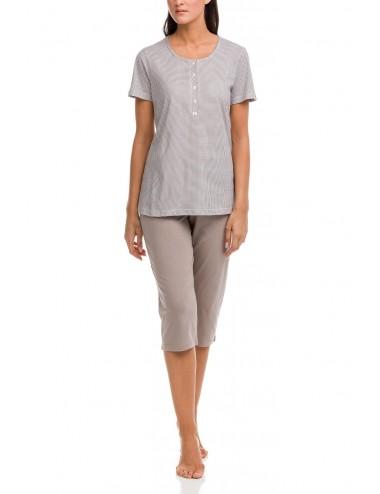 Γυναικεία πυτζάμα καλοκαιρινή με κάπρι παντελόνι Vamp 12323