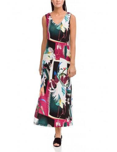 Καλοκαιρινό φόρεμα μακρύ Viscose vamp 12463