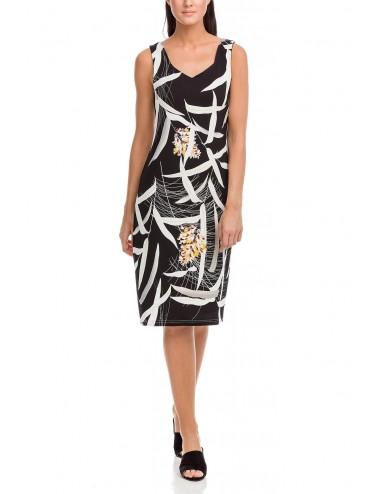 Vamp Καλοκαιρινό Αμάνικο Φόρεμα Viscose 12485 | Lamoda.gr