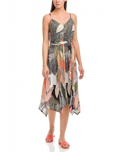 VAMP Γυναικείο Καλοκαιρινό Φόρεμα με Λεπτή Τιράντα 12532 Lamoda.gr