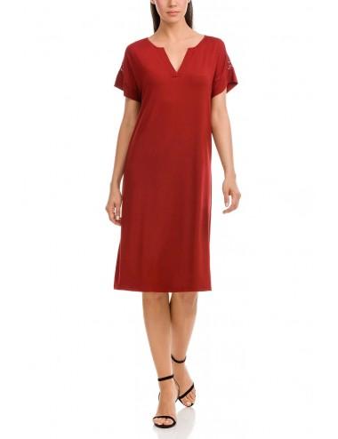 Φόρεμα καλοκαιρινό κοντομάνοκο VAMP 12572