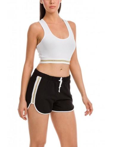 Αθλητικό μπουστάκι με χιαστή πλάτη βαμβακερό Vamp 12832