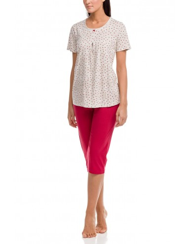 Γυναικεία πυτζάμα καλοκαιρινή με κάπρι παντελόνι Vamp 12091