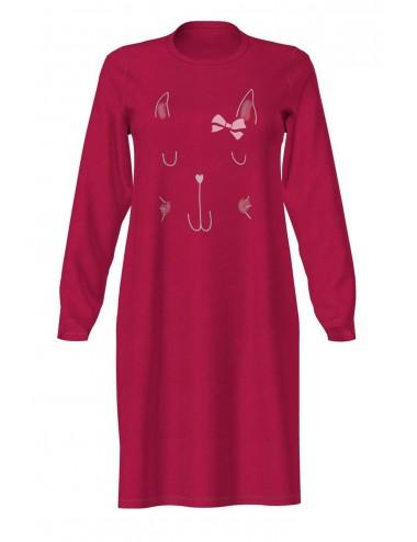 Γυναικείο Χειμερινό Νυχτικό Βαμβακερό VAMP 13916