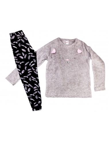 Minerva Παιδική Πυτζάμα Fleece για Κορίτσια  90-61737