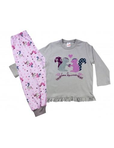 Βρεφική πυτζάμα για κορίτσια χειμερινή Minerva 90-61717 Lamoda.gr