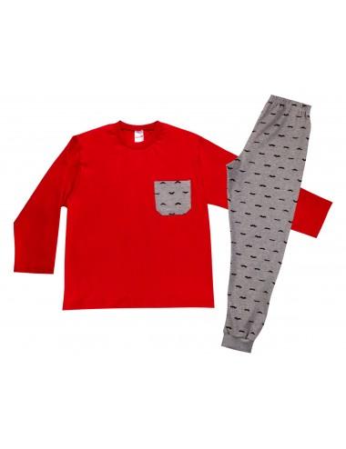 Παιδική Εφηβική Πυτζάμα Χειμερινή για Αγόρια Minerva 90-61756 Lamoda.gr