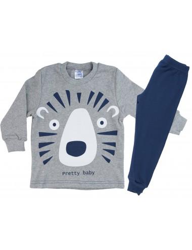 Βρεφική Πυτζάμα Βαμβακερή για Αγόρια Pretty Baby 68159