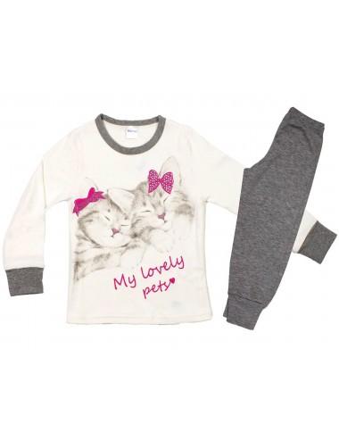 Παιδική -Εφηβική Πυτζάμα Βαμβακερή για Κορίτσια Pretty Baby 64945 Lamoda.gr
