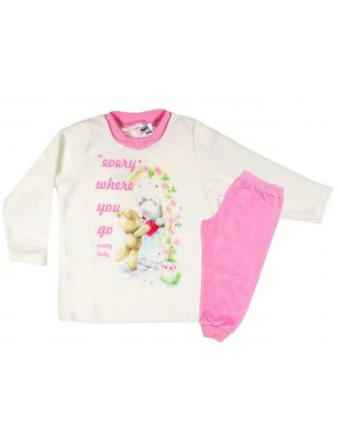 Βρεφική Χειμερινή Πυτζάμα για Κορίτσια Βελουτέ Pretty Baby 69133 Lamoda.gr