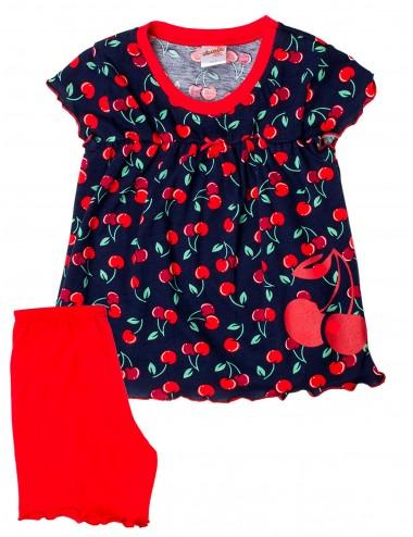 Βρεφική Πυτζάμα Βαμβακερή για Κορίτσια Minerva 90-61632 Lamoda.gr