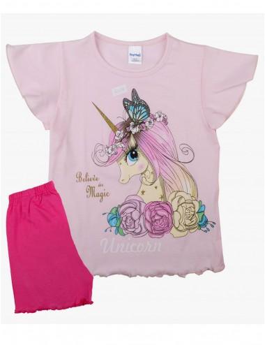 Pretty Baby Παιδική Πυτζάμα Καλοκαιρινή για Κορίτσια 63117 Lamoda.gr