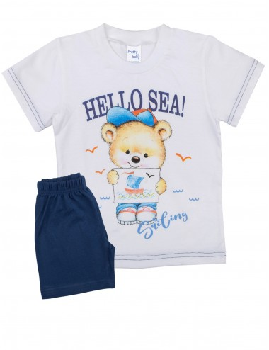 Pretty Baby Βρεφική Πυτζάμα Καλοκαιρινή για Αγόρια 65367 Lamoda.gr