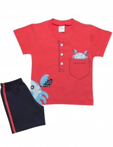 Pretty Baby Βρεφική Πυτζάμα Καλοκαιρινή για Αγόρια 65375 Lamoda.gr