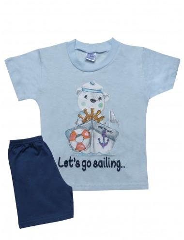 Pretty Baby Βρεφική Πυτζάμα Καλοκαιρινή για Αγόρια 65371 Lamoda.gr