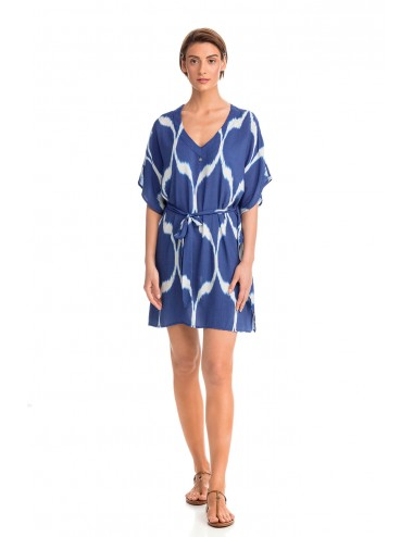 Εντυπωσιακό Φόρεμα Παραλίας Viscose Vamp 14486 Lamoda.gr