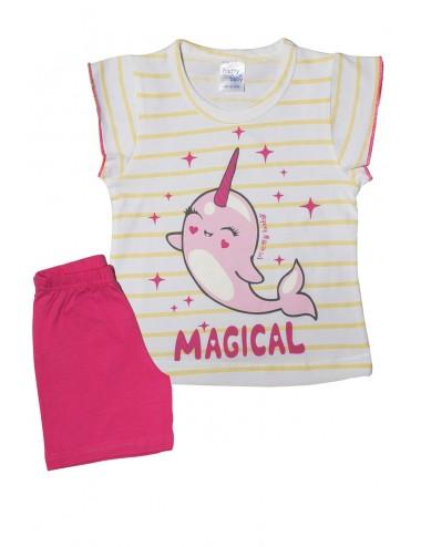 Pretty Baby Βρεφική Πυτζάμα Καλοκαιρινή για Κορίτσια 65523 Lamoda.gr