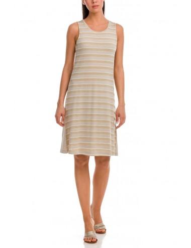 Καλοκαιρινό Αμάνικο Φόρεμα Viscose Vamp 12555 Lamoda.gr