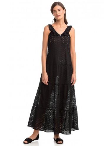 Vamp Αμάνικο Μάξι Φόρεμα Ζακάρ 14420 Lamoda.gr