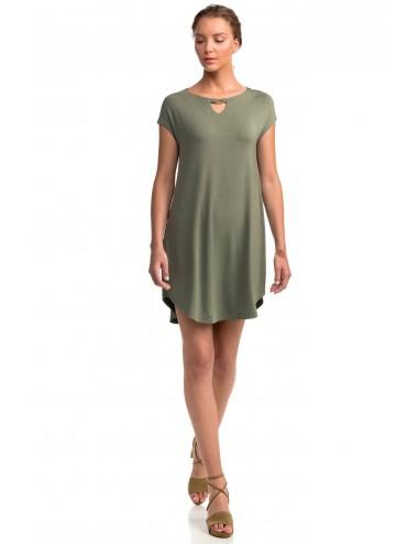 Γυναικείο Κοντό Φορεματάκι Μονόχρωμο Vamp 14522 Lamoda.gr
