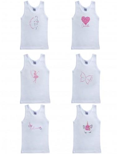 Pretty Baby Βαμβακερά Παιδικά Φανελάκια για Κορίτσια  47511 Lamoda.gr