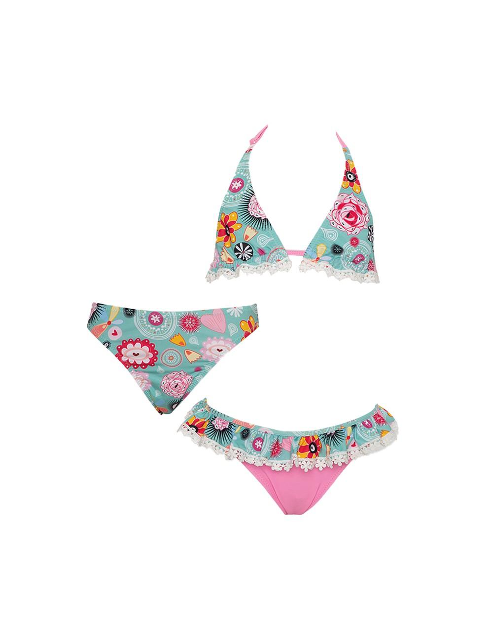 Tortue Παιδικό / Εφηβικό Μαγιό Bikini με 2 Slip S1-045-123 Lamoda.gr